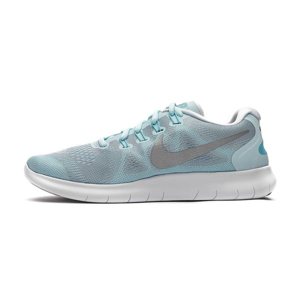 08574b5ebfa7e Nike Free RN 2017 - Glacier Blue Metallic Silver Woman