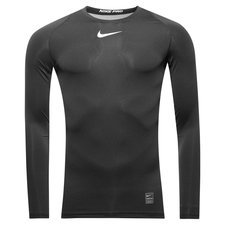 nike pro compression l/æ - sort/hvid - baselayer
