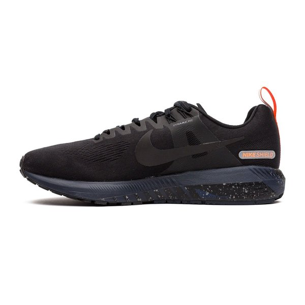 ... nike løpesko air zoom structure 21 shield - sort/navy dame - løpesko ...