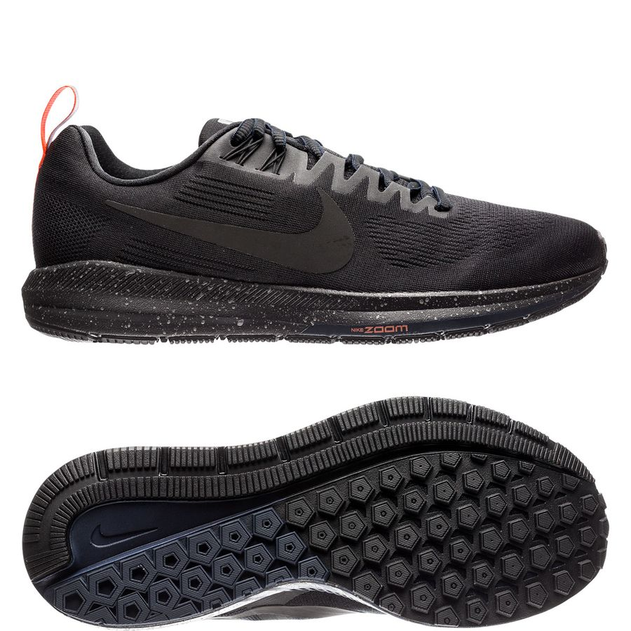 nike running shoe air zoom structure 21 shield - black obsidian woman -  running shoes ... c1bffd967