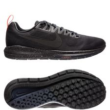 nike running shoe air zoom structure 21 shield - black/obsidian women - running shoes