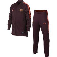 Barcelona Träningsoverall Dry Squad Knit - Bordeaux/Orange Barn