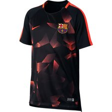 barcelona training t-shirt dry squad - black/hyper crimson kids - t-shirts
