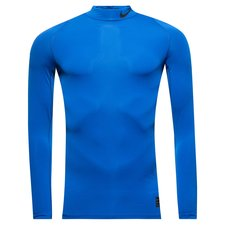 nike pro compression mock l/s - game royal/black - baselayer
