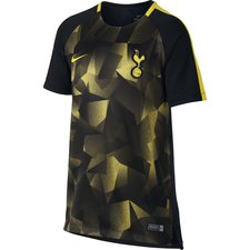 tottenham training t-shirt dry squad - black/opti yellow kids - t-shirts