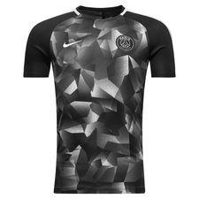 paris saint-germain trænings t-shirt dry squad - sort/grå/hvid - træningstrøjer