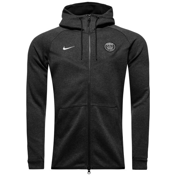ba284c718180 Paris Saint Germain Hoodie FZ NSW Tech Fleece Windrunner - Black ...