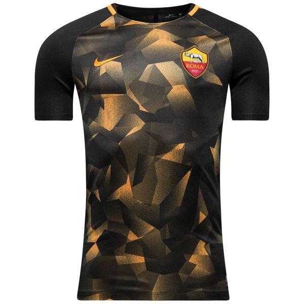 roma trænings t-shirt dry squad - sort/orange børn - t-shirts