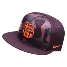 barcelona kasket snapback true - lilla/sort/orange - kasket