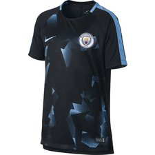 manchester city training t-shirt dry squad - black/field blue kids - t-shirts