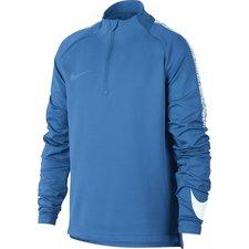 nike træningstrøje dry squad drill - blå/hvid børn - træningstrøjer