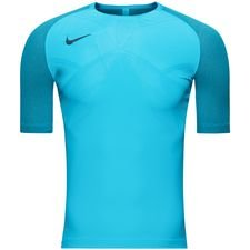 nike training t-shirt aeroswift strike ice - blue fury - t-shirts