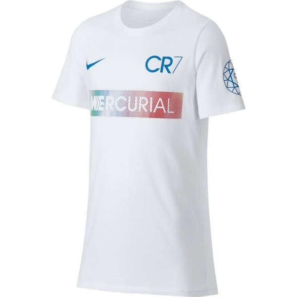 Nike t shirt mercurial cr7 white kids www for Nike youth football t shirts