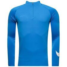 nike trainingsshirt dry squad drill ice - blau/weiß - trainingsoberteile