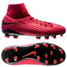 Nike Hypervenom Phelon 3 DF FG Fire - Rood/Zwart Kinderen