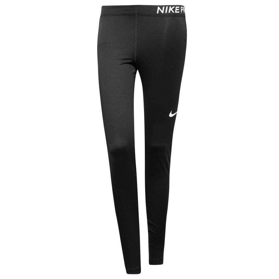 Nike Pro Collant Long - Noir/Blanc Femme