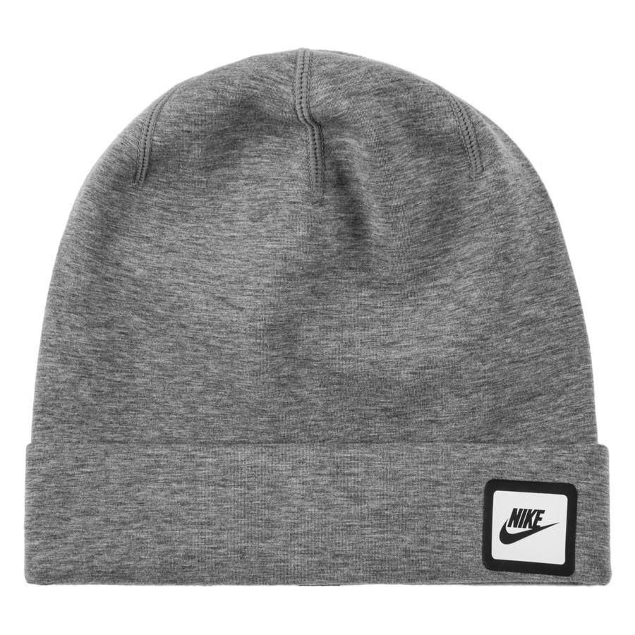 nike beanie swoosh tech - carbon heather black white - hats ... 3ad02e5cc5d