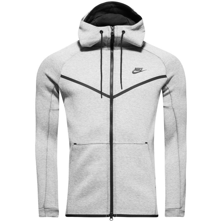 cd214d0be8 nike tech fleece windrunner fz - light bone black - hoodies ...