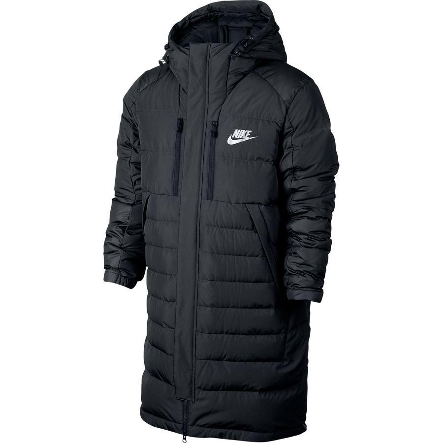 651d7966bdf5 nike nsw down jacket parka - black white - jackets ...