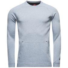 nike sweatshirt nsw tech fleece crew - grå/sort - sweatshirts
