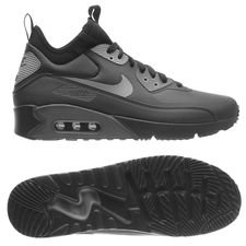 nike air max 90 mid vinter - sort/grå - sneakers