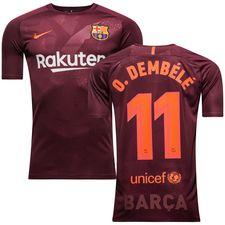 barcelona third shirt 2017/18 o.dembele 11 - football shirts