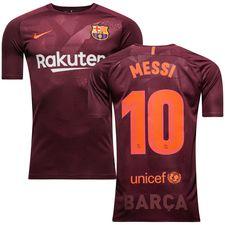 barcelona 3. trøje 2017/18 messi 10 børn - fodboldtrøjer