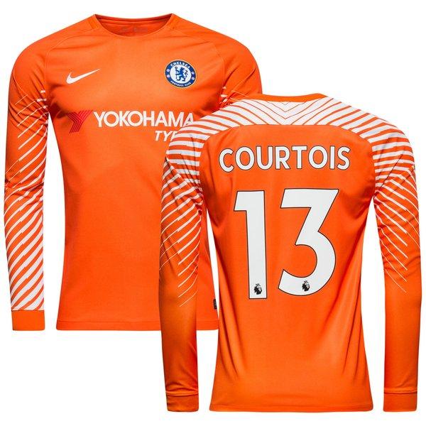 chelsea målmandstrøje 2017/18 courtois 13 - fodboldtrøjer