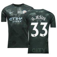 manchester city 3. trøje 2017/18 g.jesus 33 børn - fodboldtrøjer