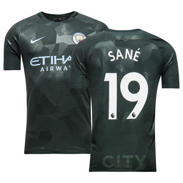 manchester city 3. trøje 2017/18 sané 19 - fodboldtrøjer