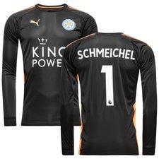 leicester city målmandstrøje 2017/18 schmeichel 1 - fodboldtrøjer