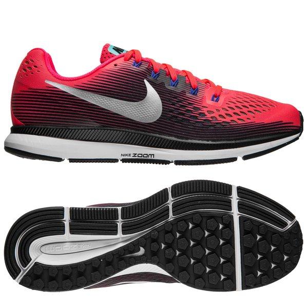 3ee440a434f Nike Chaussures de Running Air Zoom Pegasus 34 - Rouge Argenté Noir Femme 0