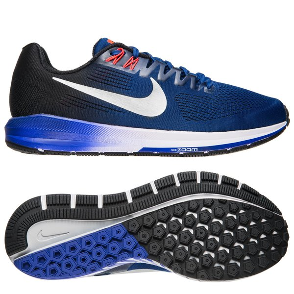 Nike Laufschuhe Air Zoom Structure 21 NavySilberSchwarz