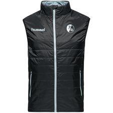 sc freiburg vest padded - sort/grå - jakker
