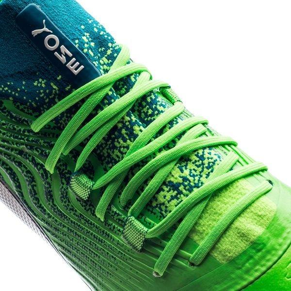 ... puma one 18.1 ag frenzy pack - blå grön - fotbollsskor ... 8f27ccd6c0af2