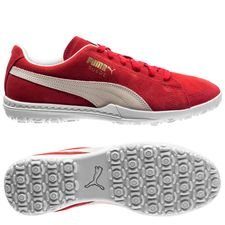 puma future suede 50 tf - red/white - football boots