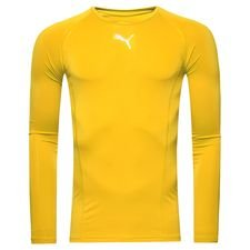 puma baselayer liga l/s - cyber yellow - baselayer