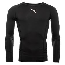 puma baselayer liga l/s - black kids - baselayer