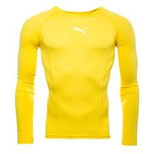 puma baselayer liga l/s - cyber yellow kids - baselayer