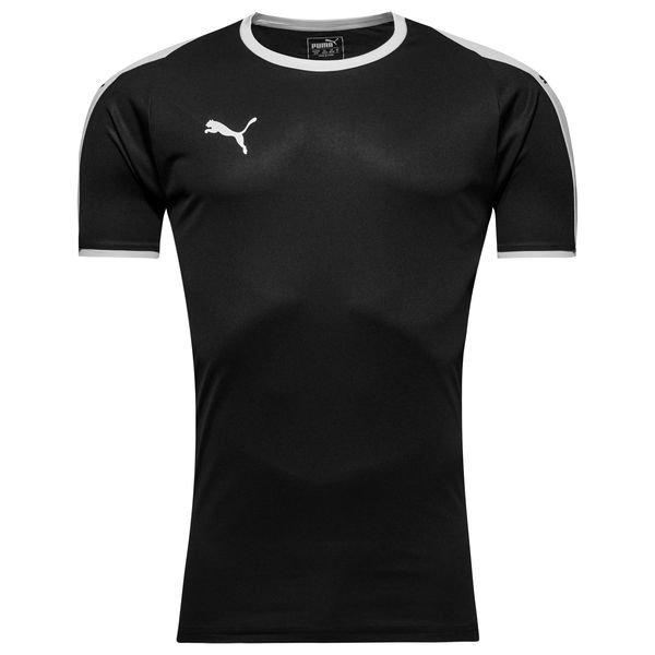 puma spilletrøje liga - sort/hvid - fodboldtrøjer
