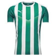 puma spilletrøje liga striped - grøn/hvid - fodboldtrøjer