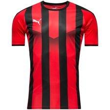 puma playershirt liga striped - red/black - football shirts