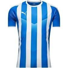 puma spilletrøje liga striped - blå/hvid børn - fodboldtrøjer