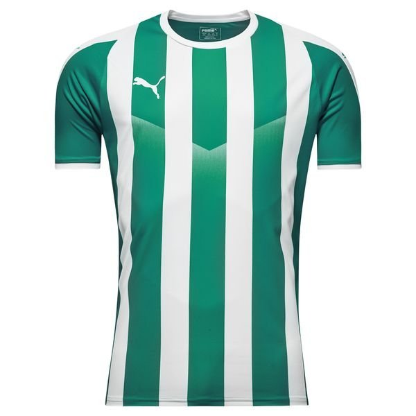 puma spilletrøje liga striped - grøn/hvid børn - fodboldtrøjer