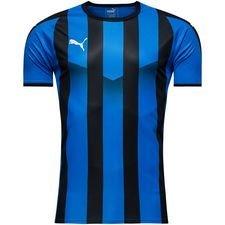puma spilletrøje liga striped - blå/sort børn - fodboldtrøjer