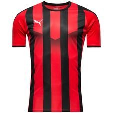 puma playershirt liga striped - red/black kids - football shirts