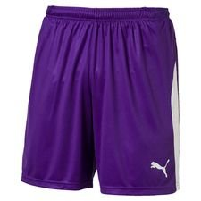 puma shorts liga with brief - prism violet kids - shorts