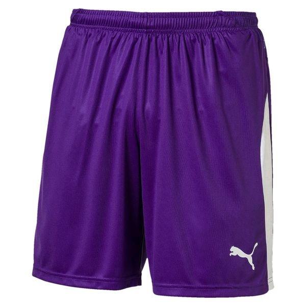 puma shorts liga med indershorts - lilla børn - træningsshorts