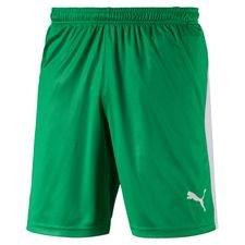 puma shorts liga med indershorts - grøn børn - træningsshorts