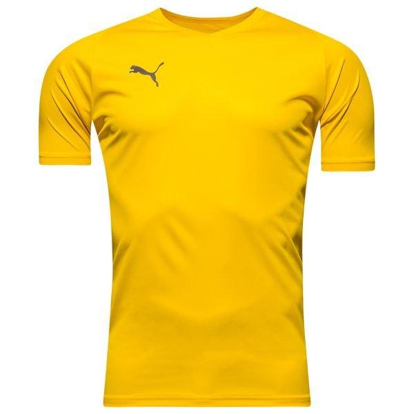 puma spilletrøje liga core - gul - fodboldtrøjer
